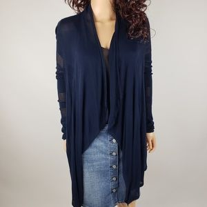 ✿❀ INC Navy Assymetrical Open Cardigan  ❀✿